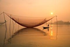 Ψάρια καθαρά στον ποταμό Hoai στην αρχαία πόλη Hoian στο Βιετνάμ Στοκ Εικόνες