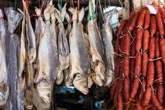 ψάρια και λουκάνικο στοκ φωτογραφίες με δικαίωμα ελεύθερης χρήσης