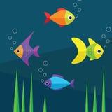 Ψάρια και νερό Στοκ εικόνα με δικαίωμα ελεύθερης χρήσης