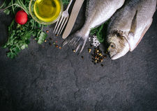 Ψάρια και συστατικά Gilthead Στοκ φωτογραφίες με δικαίωμα ελεύθερης χρήσης