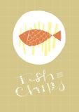 Ψάρια και τσιπ Στοκ Εικόνες