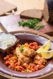 Ψάρια και φυτική σαλάτα Στοκ φωτογραφίες με δικαίωμα ελεύθερης χρήσης