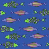 Ψάρια κινούμενων σχεδίων της Νίκαιας καθορισμένα άνευ ραφής διάνυσμα προτύπων Στοκ φωτογραφία με δικαίωμα ελεύθερης χρήσης