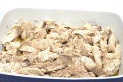 Ψάρια λούτσων στο λευκό με τα αρώματα Στοκ Εικόνες