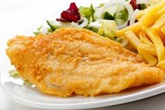 ψάρια λωρίδων που τηγανίζ&omicro Στοκ Εικόνες