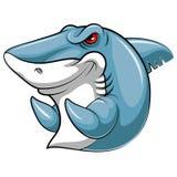 Ψάρια μασκότ ενός καρχαρία διανυσματική απεικόνιση