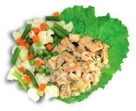 Ψάρια με τα λαχανικά   Στοκ Εικόνες