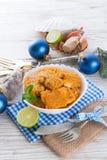 Ψάρια με τη σάλτσα καρότων imbir Στοκ Εικόνες