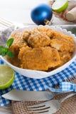 Ψάρια με τη σάλτσα καρότων imbir Στοκ εικόνες με δικαίωμα ελεύθερης χρήσης