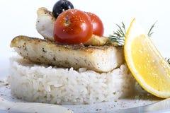 Ψάρια με το ρύζι στοκ φωτογραφίες με δικαίωμα ελεύθερης χρήσης