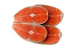 Ψάρια μπριζόλας σολομών Στοκ Φωτογραφίες