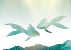 Ψάρια νεράιδων διανυσματική απεικόνιση