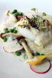 ψάρια πιάτων γαστρονομικά Στοκ Εικόνες