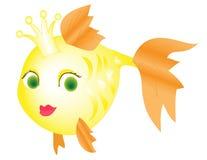 Ψάρια που απομονώνονται χρυσά Στοκ Εικόνα