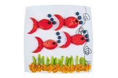 Ψάρια που γίνονται από τα φρούτα Στοκ εικόνα με δικαίωμα ελεύθερης χρήσης