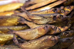 ψάρια που καπνίζονται ξηρά Στοκ Φωτογραφίες
