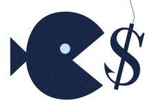 Ψάρια που παίρνουν το δόλωμα Διανυσματική απεικόνιση