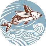 ψάρια που πετούν τα αναδρ&omicr ελεύθερη απεικόνιση δικαιώματος