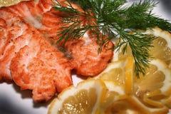 ψάρια που προετοιμάζοντ&alpha Στοκ Εικόνες