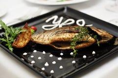 ψάρια που τηγανίζονται Στοκ φωτογραφία με δικαίωμα ελεύθερης χρήσης