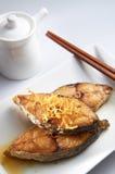 ψάρια που τηγανίζονται στοκ εικόνα με δικαίωμα ελεύθερης χρήσης