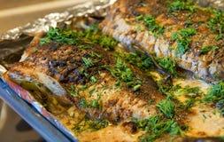 ψάρια που ψήνονται Στοκ Εικόνες