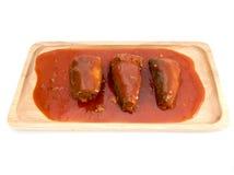 Ψάρια σαρδελλών στη σάλτσα ντοματών Στοκ Εικόνες