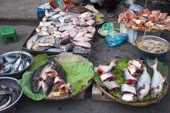 Ψάρια σε μια αγορά οδών Στοκ εικόνες με δικαίωμα ελεύθερης χρήσης