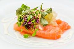 Ψάρια σολομών που απομονώνονται στο άσπρο υπόβαθρο Στοκ φωτογραφία με δικαίωμα ελεύθερης χρήσης