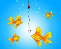 ψάρια στο αγκίστρι Στοκ Φωτογραφίες