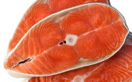 Ψάρια του σολομού Μπριζόλα ακατέργαστων ψαριών στοκ εικόνα με δικαίωμα ελεύθερης χρήσης
