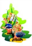 ψάρια τροπικά (Διάνυσμα) Στοκ Εικόνες