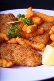 ψάρια τσιπ Στοκ φωτογραφίες με δικαίωμα ελεύθερης χρήσης