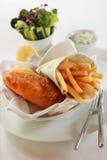 ψάρια τσιπ Στοκ φωτογραφία με δικαίωμα ελεύθερης χρήσης