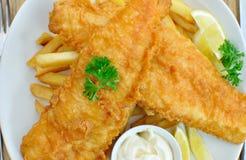 ψάρια τσιπ στοκ εικόνα με δικαίωμα ελεύθερης χρήσης