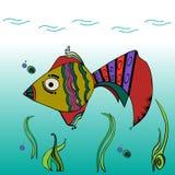 Ψάρια, υπόβαθρα, χαρακτήρες απεικόνιση αποθεμάτων