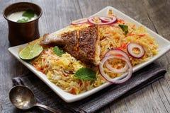 Ψάρια Biryani που γίνεται με basmati το ρύζι Στοκ Εικόνα