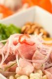 Ψάρια Ceviche, ένα χαρακτηριστικό πιάτο από το Περού Στοκ φωτογραφία με δικαίωμα ελεύθερης χρήσης