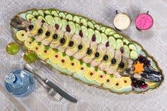 Ψάρια Gefilte, γεμισμένα ψάρια, γεμισμένοι λούτσοι Στοκ φωτογραφία με δικαίωμα ελεύθερης χρήσης