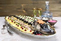 Ψάρια Gefilte, γεμισμένα ψάρια, γεμισμένοι λούτσοι Στοκ Εικόνα