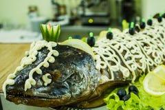 Ψάρια Gefilte Στοκ Εικόνες