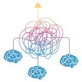 Ψάχνοντας για τον τρόπο, το χτίσιμο ομάδας ή τον καταιγισμό ιδεών διανυσματική απεικόνιση