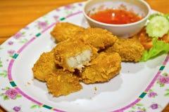 Ψήγματα, τηγανισμένα ψάρια Στοκ Εικόνες