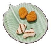ψήγμα επιλογής κοτόπουλ Στοκ εικόνα με δικαίωμα ελεύθερης χρήσης