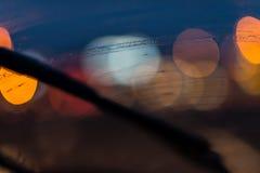 Ψήκτρα στο αλεξήνεμο Στοκ Εικόνες