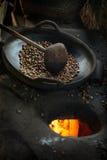 Ψήνοντας καφές Στοκ Εικόνα