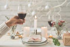 Ψήσιμο με το γυαλί κρασιού Στοκ Φωτογραφίες