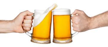 Ψήσιμο μπύρας με τον παφλασμό στοκ εικόνες με δικαίωμα ελεύθερης χρήσης