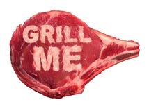 ψήσιμο στη σχάρα του κρέατ&omi ελεύθερη απεικόνιση δικαιώματος