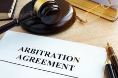 Ψήφισμα συμφωνίας διαιτησίας των εμπορικών διαφωνιών στοκ φωτογραφία